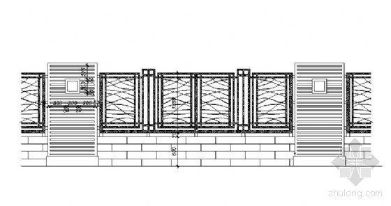 欧式风格围墙施工图