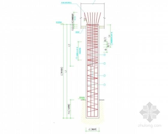 高层住宅机械钻孔嵌岩灌注桩基础施工图