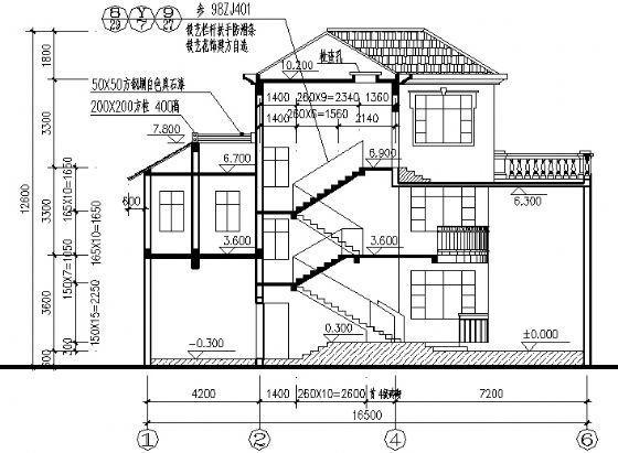 某3层别墅建筑图-2