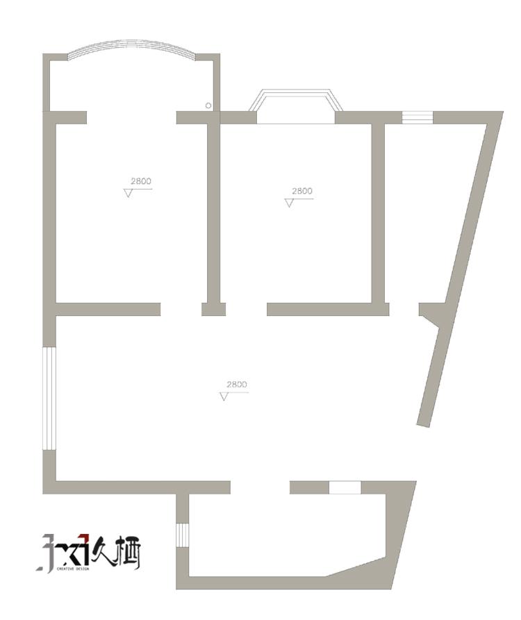 [久栖设计]福州恒力城清爽美式混搭_12