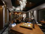 采菊东篱中餐厅大堂包间3D模型