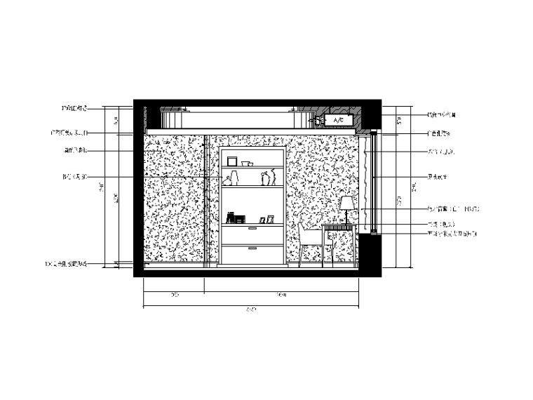 【重庆】新中式样板间设计CAD施工图(含效果图)_6