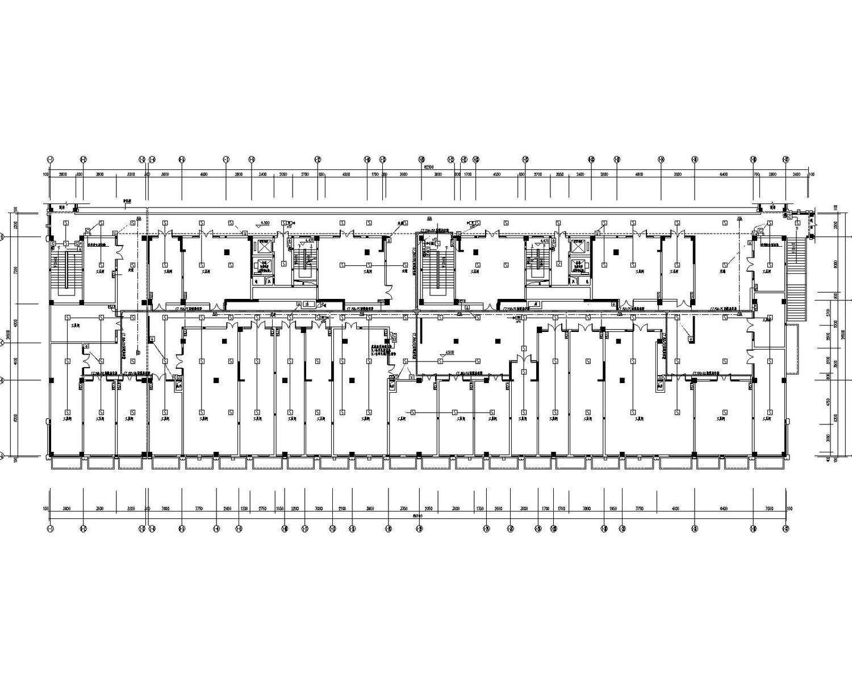 [福建]国际商贸城安置房及连廊地下室电气施工图(含控制原理图)