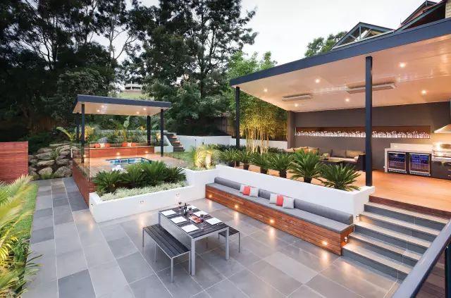 赶紧收藏!21个最美现代风格庭院设计案例_38