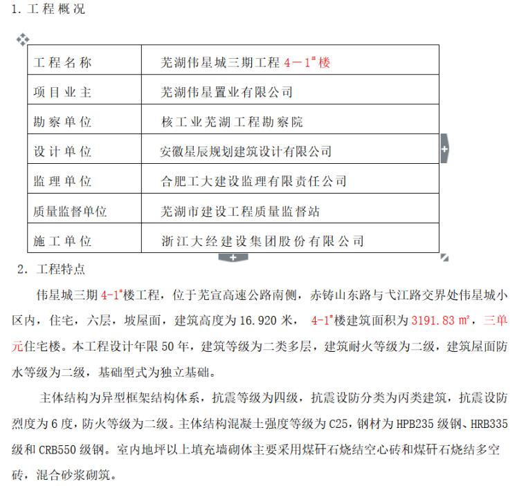 芜湖伟星城三期工程4-1#楼竣工质量评估报告(共24)