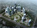 [海宁]超高层超现代份风格办公总部基地建筑设计方案文本