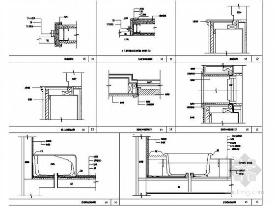 [辽宁]浪漫欧式风格两层别墅样板房室内装修施工图(含实景图)节点图