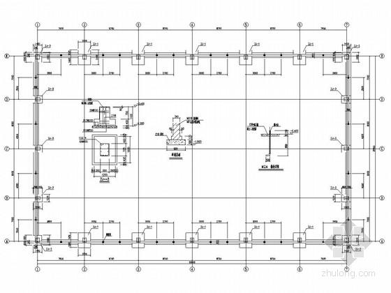 30米跨单层轻钢结构车库