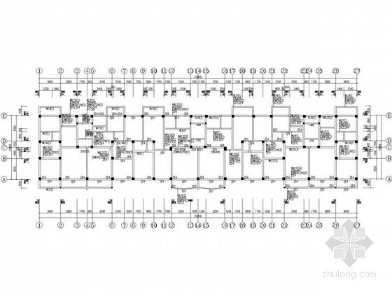 8层框架带天面层住宅结构施工图