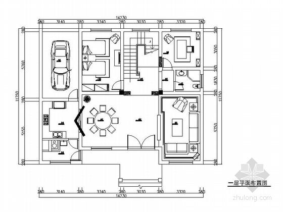 [天津]高档私人三层别墅欧式风格装修图(含效果图)