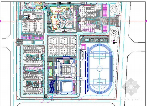 [安徽]中学新校区绿化工程预算书(全套图纸软件应用文件)-景观照片平面图