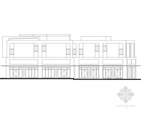 [宜昌]某商贸物流中心二层沿街商铺建筑施工图(3号楼)