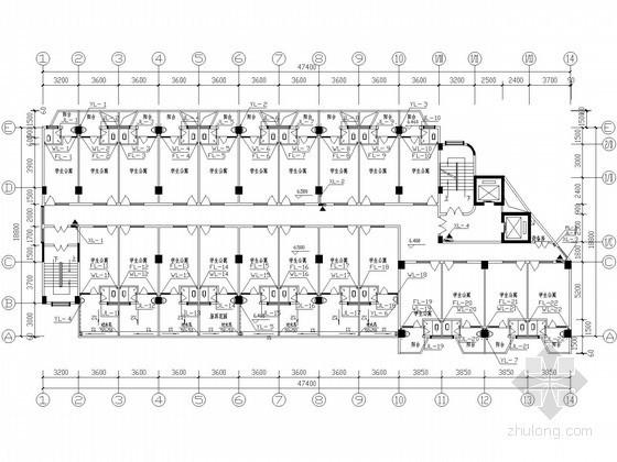 IFLA学生竞赛图纸资料下载-[广西]十三层学生公寓楼给排水图纸