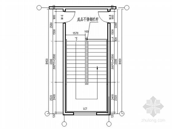 五层现代风格幼儿园建筑节点图