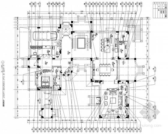 [北京]东方小夏威夷简约现代别墅装修CAD施工图(含效果图)