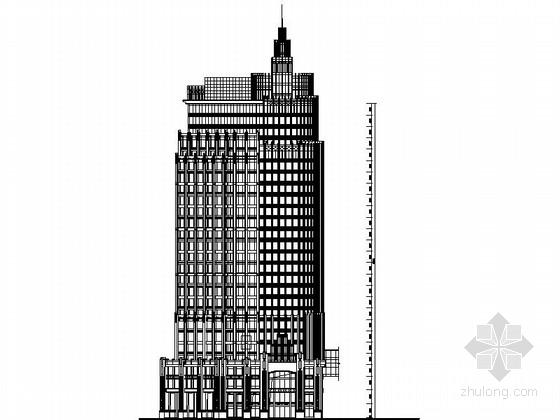 [浙江]27层现代风格商业办公楼建筑设计施工图(知名设计公司)