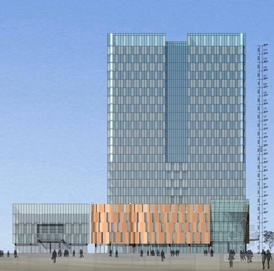 [浙江]电子晶体立面新建厂房建筑设计方案文本-电子晶体立面新建厂房建筑设计立面图