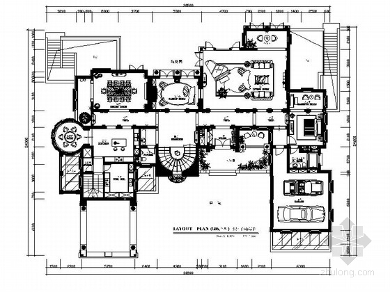 [杭州]大户型传统欧式低调奢华别墅室内施工图(含效果图)
