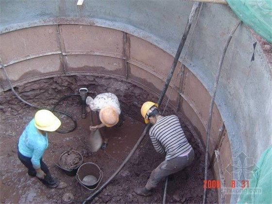 [广州]超高层建筑大直径人工挖孔灌注桩施工方案(鲁班奖 节点图丰富)