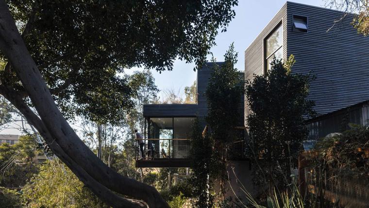 美国建筑师JeffSvitak一座炭黑红木住宅