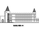 3层尖顶式度假村综合楼建图