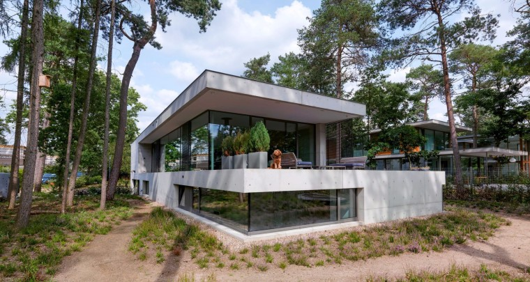 荷兰混凝土板组成的Zeist住宅-1