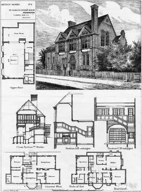 百年经典建筑设计手绘图_10