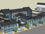 商业街中式商业街E区建筑设计(SU模型)