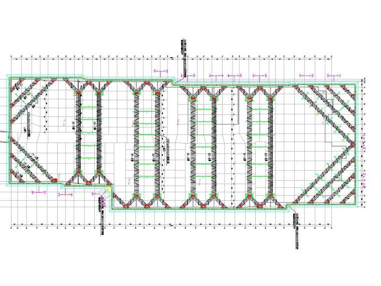 11米深基坑SMW工法桩加两道型钢组合(混凝土)内支撑支护施工图