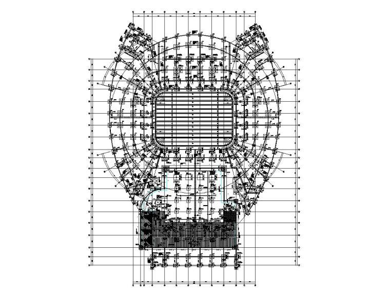 吉林三层框架+钢屋盖体育馆结构施工图
