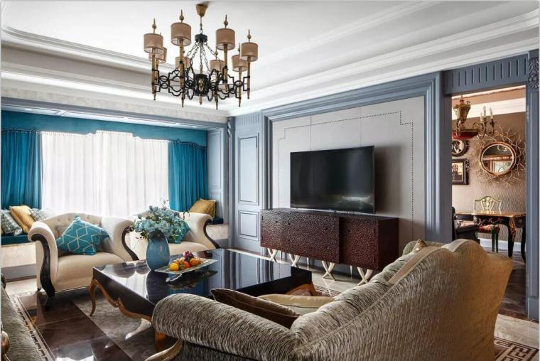 [成都]欧式精致优雅别墅室内设计施工图(含多张实景图)-[成都]欧式精致优雅别墅室内设计效果图