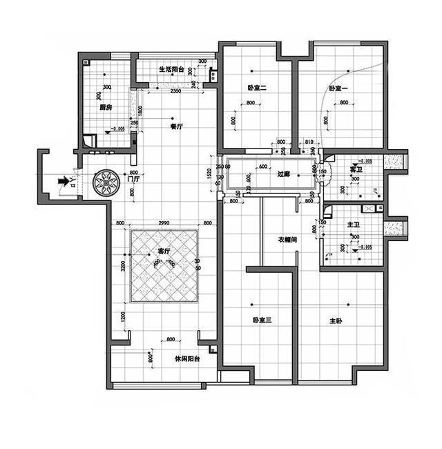 柔和新中式  四室两厅