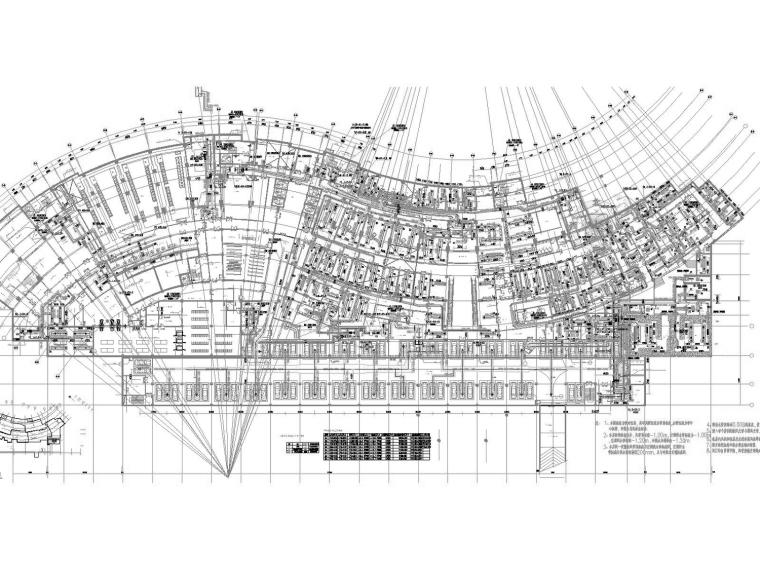 [重庆]高层医院空调通风防排烟系统设计施工图(多联机系统)-地下一层空调、通风、防排烟平面图(二).jpg