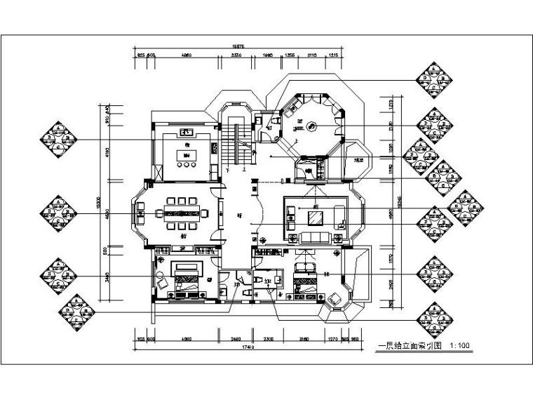 [深圳]中式别墅设计施工图(含效果图)