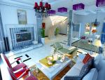 别墅客餐厅3D模型下载