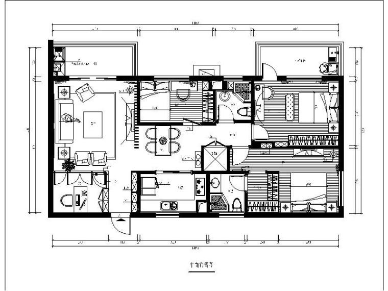 [福州]中式风三居室设计施工图(含效果图)