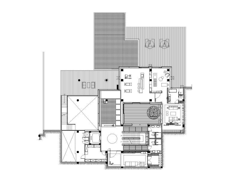 李玮珉设计案例资料下载-[福建]李玮珉-厦门恒禾七尚四层别墅CAD施工图