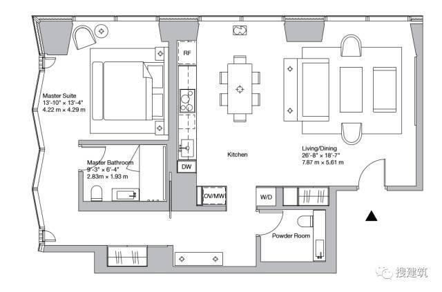 """万科在纽约开发的""""新地标住宅"""",高200米,1000-1600平方英尺的_17"""