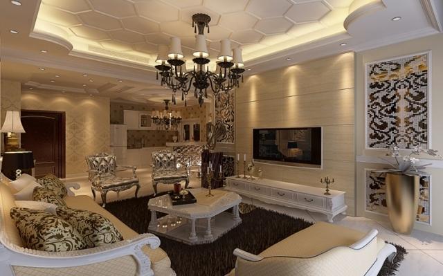 升龙城 142三居室 欧式奢华装修 效果图