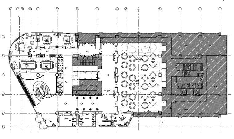 重庆希尔顿酒店施工图(含实景)