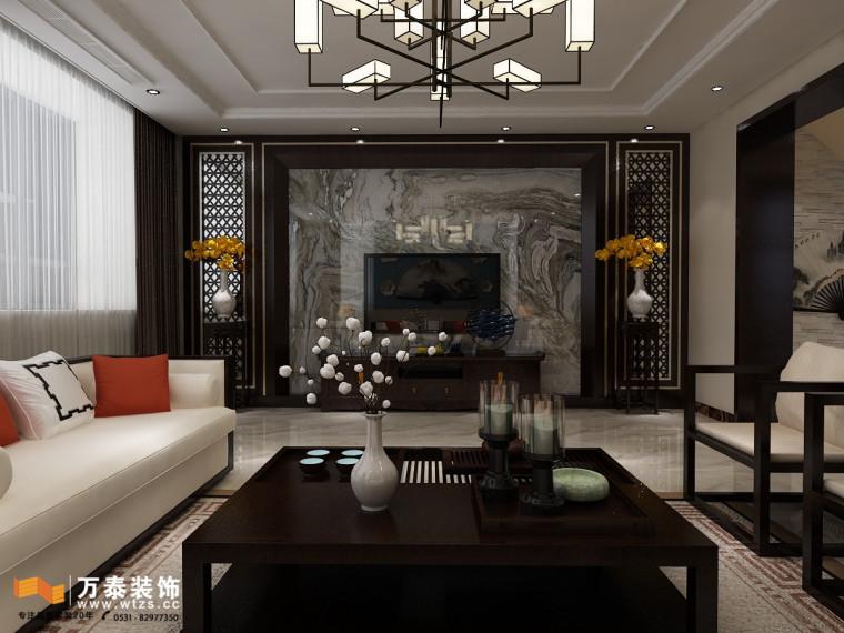 济南240平中式风格效果图案例,给你一个最好的家