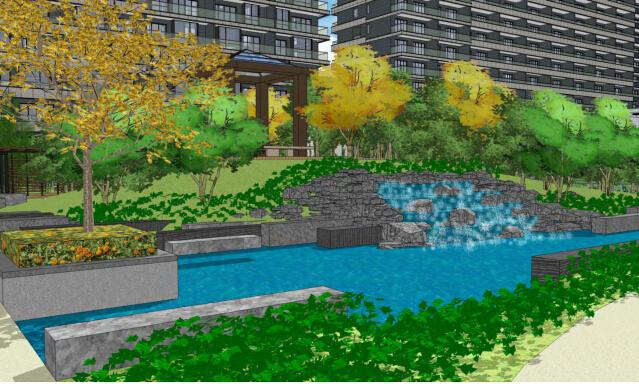 城市森林居住区景观深化设计——特色雕塑&视觉园效果图