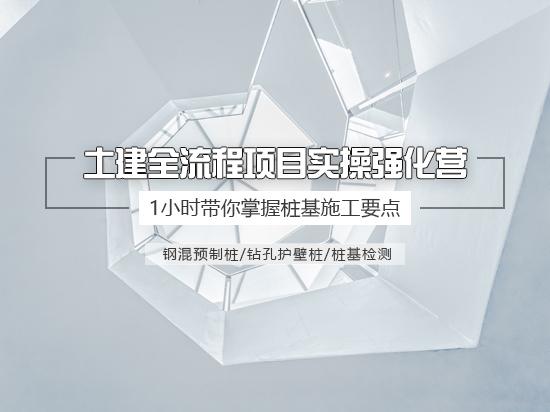 【9.9元体验】桩基施工技术详解