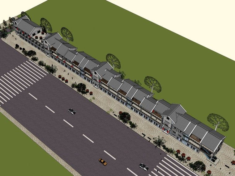商业街中式风格三层建筑方案设计(SU模型)-20150805_223509_058