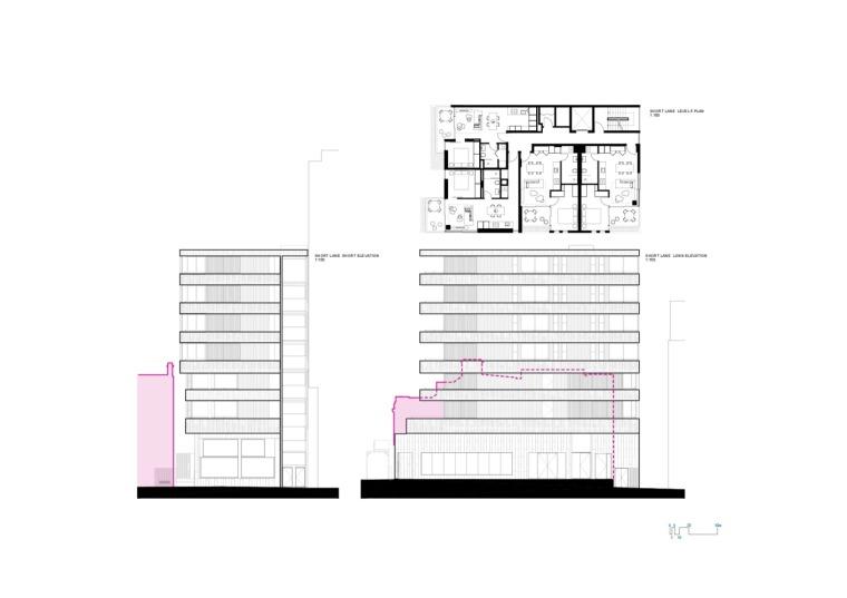 澳大利亚22套独特混合公寓立面图 (14)