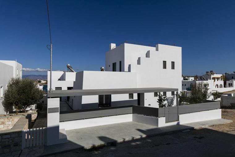 希腊音乐家家庭住宅外部实景图
