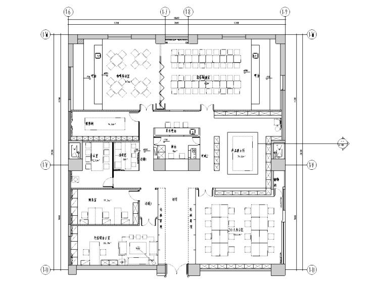 [四川]现代简约风格咖啡厅室内装修施工图