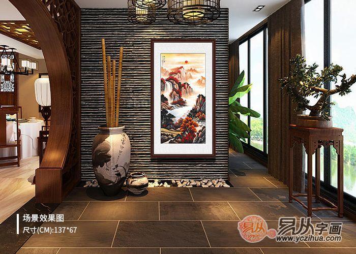家里餐厅的挂画,建议挂这幅淡雅秀丽山水画