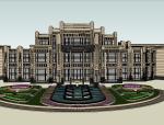 [上海]国亭上海大公馆建筑模型设计