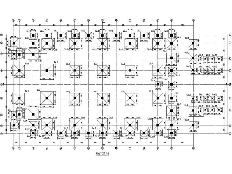 中学四层风雨操场结构施工图